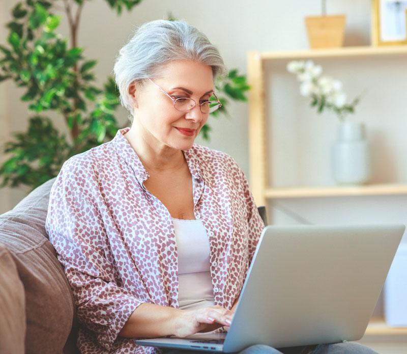 Woman using Telemedicine
