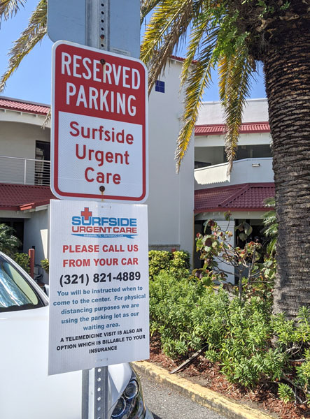 Surfside Urgent Care Parking area